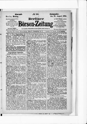 Berliner Börsen-Zeitung vom 25.08.1884