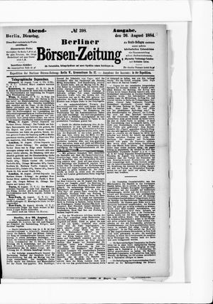 Berliner Börsen-Zeitung vom 26.08.1884