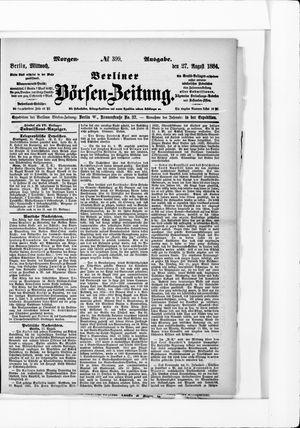 Berliner Börsen-Zeitung vom 27.08.1884