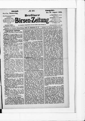 Berliner Börsen-Zeitung vom 28.08.1884