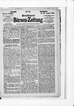 Berliner Börsen-Zeitung vom 29.08.1884