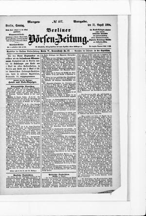 Berliner Börsen-Zeitung on Aug 31, 1884