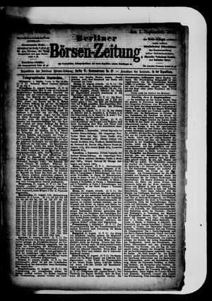 Berliner Börsen-Zeitung vom 01.09.1884