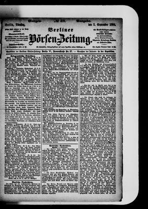 Berliner Börsen-Zeitung vom 02.09.1884
