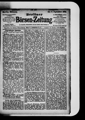 Berliner Börsen-Zeitung vom 03.09.1884