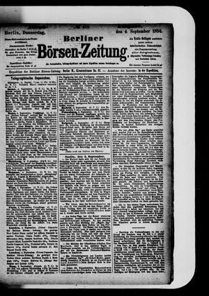 Berliner Börsen-Zeitung vom 04.09.1884