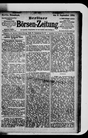 Berliner Börsen-Zeitung vom 06.09.1884