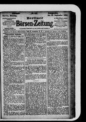 Berliner Börsen-Zeitung (23.09.1884)