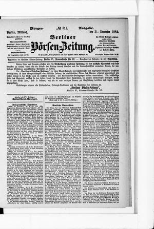 Berliner Börsen-Zeitung vom 31.12.1884