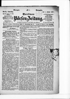 Berliner Börsen-Zeitung vom 01.01.1885