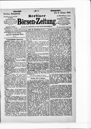 Berliner Börsen-Zeitung vom 03.01.1885