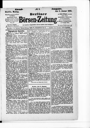Berliner Börsen-Zeitung vom 05.01.1885