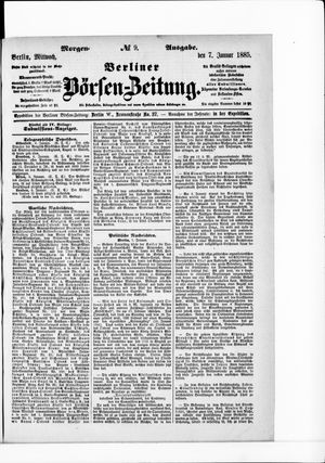 Berliner Börsen-Zeitung vom 07.01.1885