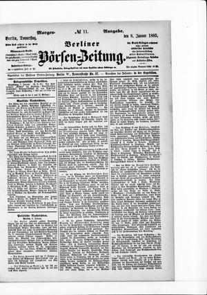 Berliner Börsen-Zeitung vom 08.01.1885
