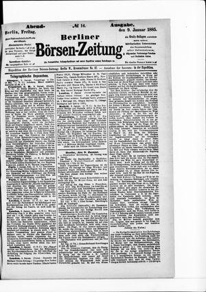 Berliner Börsen-Zeitung vom 09.01.1885