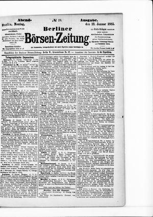 Berliner Börsen-Zeitung vom 12.01.1885