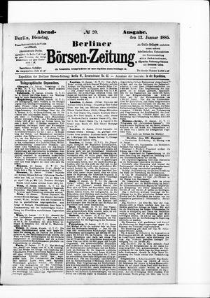 Berliner Börsen-Zeitung vom 13.01.1885
