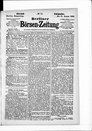 Berliner Börsen-Zeitung vom 15.01.1885