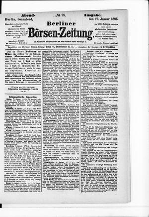 Berliner Börsen-Zeitung vom 17.01.1885