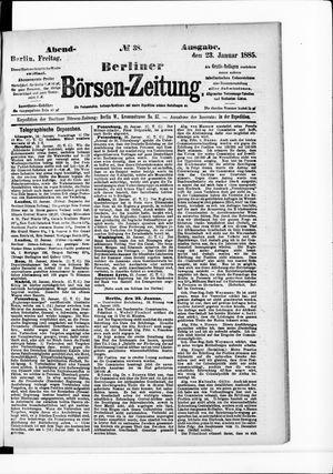 Berliner Börsen-Zeitung vom 23.01.1885