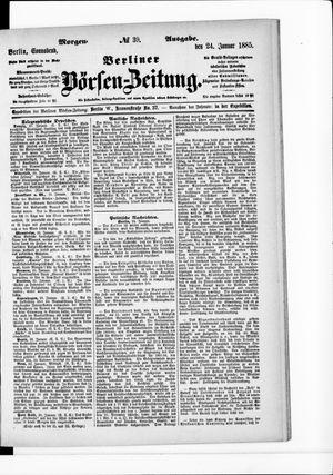 Berliner Börsen-Zeitung vom 24.01.1885
