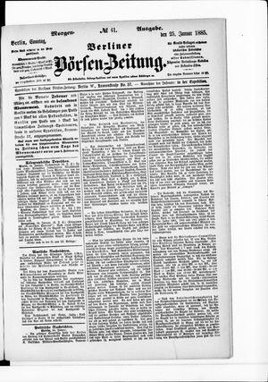 Berliner Börsen-Zeitung vom 25.01.1885