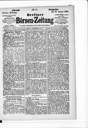 Berliner Börsen-Zeitung vom 27.01.1885