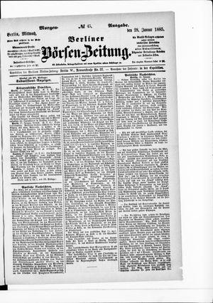 Berliner Börsen-Zeitung vom 28.01.1885