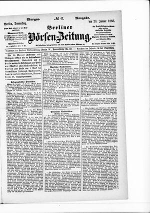 Berliner Börsen-Zeitung vom 29.01.1885