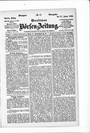 Berliner Börsen-Zeitung vom 30.01.1885