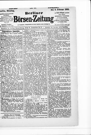 Berliner Börsen-Zeitung vom 03.02.1885