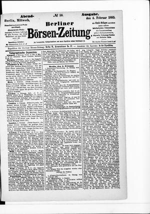 Berliner Börsen-Zeitung vom 04.02.1885