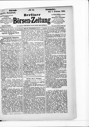Berliner Börsen-Zeitung vom 07.02.1885