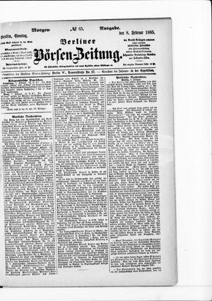 Berliner Börsen-Zeitung vom 08.02.1885