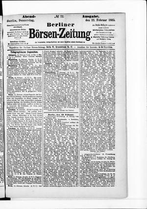 Berliner Börsen-Zeitung vom 12.02.1885