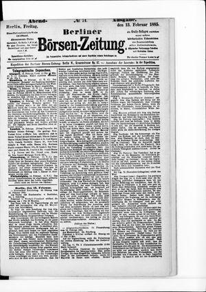 Berliner Börsen-Zeitung vom 13.02.1885