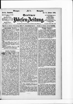 Berliner Börsen-Zeitung vom 14.02.1885