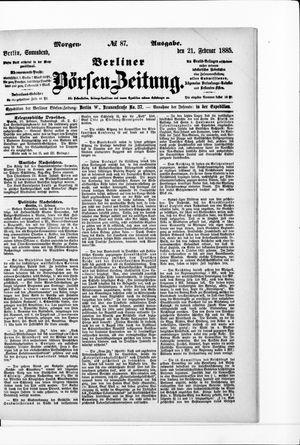Berliner Börsen-Zeitung vom 21.02.1885