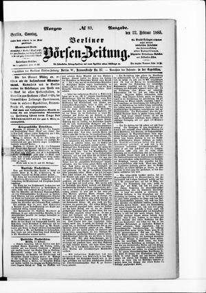 Berliner Börsen-Zeitung vom 22.02.1885
