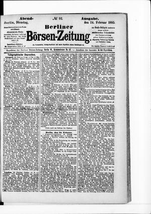 Berliner Börsen-Zeitung vom 24.02.1885