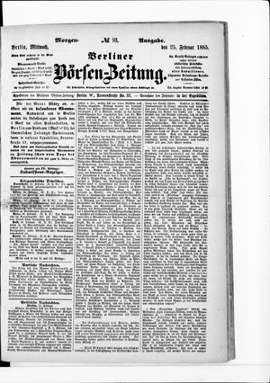 Berliner Börsen-Zeitung vom 25.02.1885