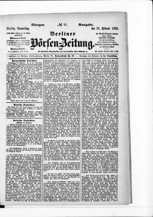 Berliner Börsen-Zeitung vom 26.02.1885