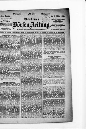 Berliner Börsen-Zeitung vom 01.03.1885