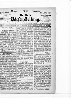 Berliner Börsen-Zeitung vom 04.03.1885