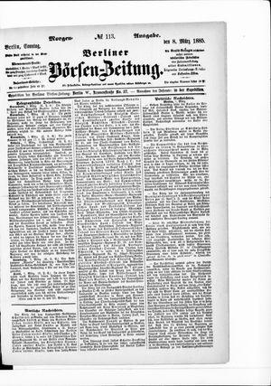 Berliner Börsen-Zeitung vom 08.03.1885
