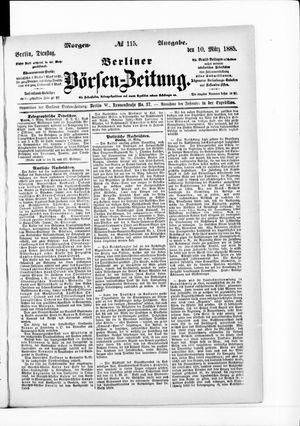 Berliner Börsen-Zeitung vom 09.03.1885