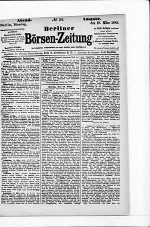 Berliner Börsen-Zeitung vom 10.03.1885