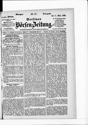 Berliner Börsen-Zeitung vom 11.03.1885