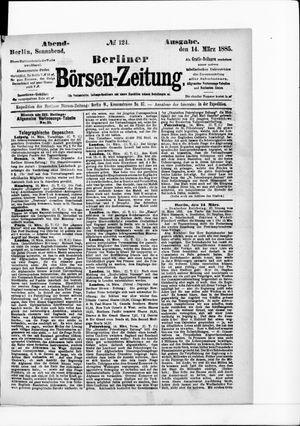 Berliner Börsen-Zeitung vom 14.03.1885