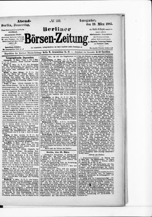Berliner Börsen-Zeitung vom 19.03.1885